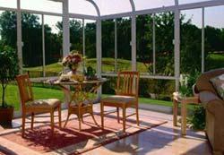 Glass Sunroom Interior View