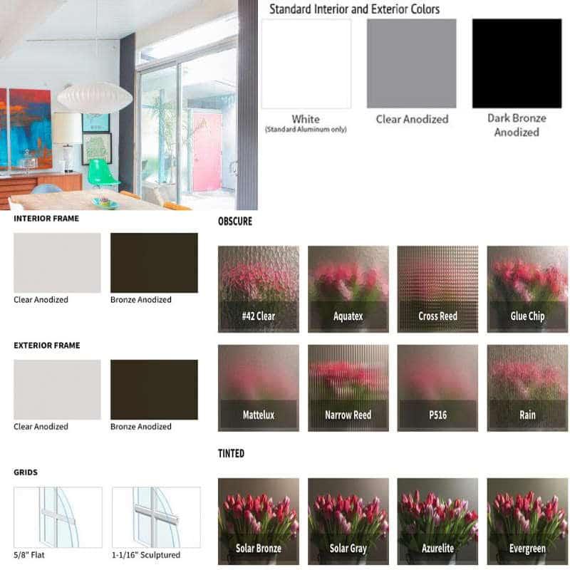 Aluminum Door Styles and Colors