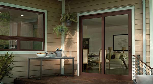Drk Brown Milgard Patio Doors