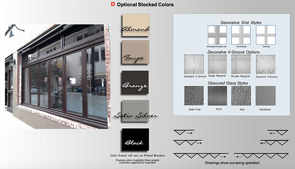 Windor 2200 BiFold Window Options