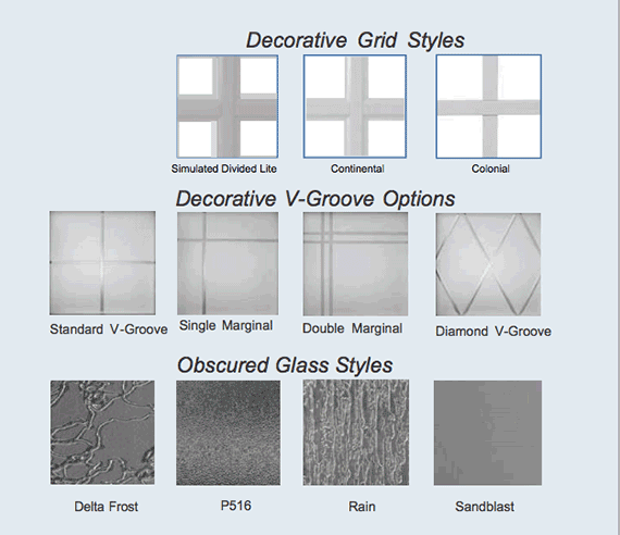Windor Vinyl Glass Options