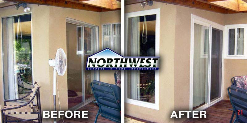 Before and After Window Installation