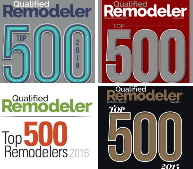 Northwest Exteriors Top 500 Qualified Remodeler 2015-2018