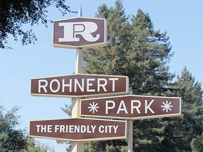 Rohnert Park Friendly City - Iconic Sign