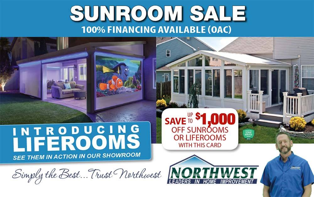 Special deal on sunrooms