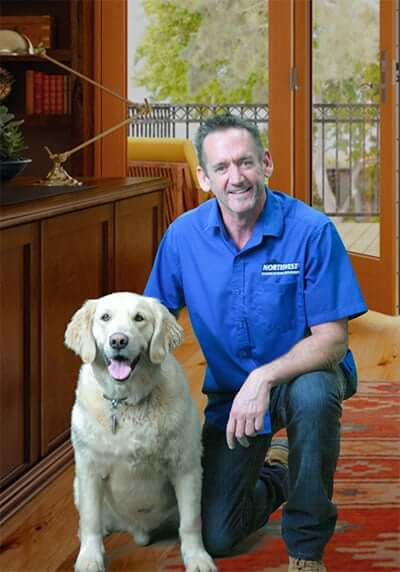 Tom Orr and his Dog, Duke