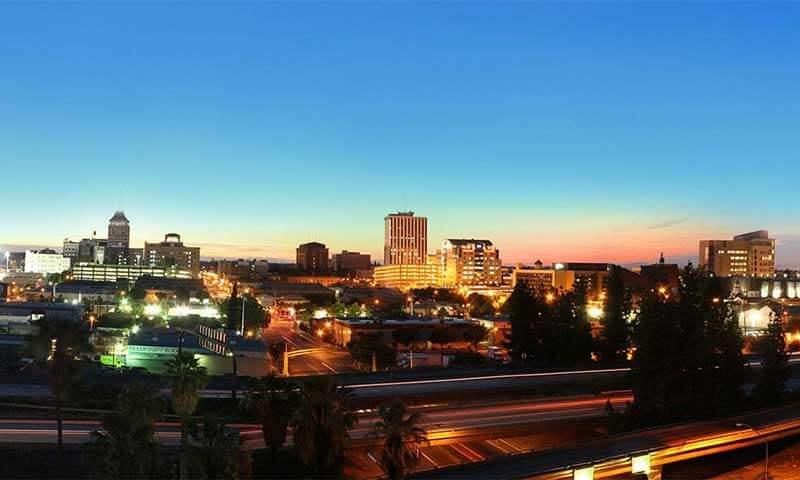 The City of Fresno at Dusk